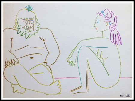 Lithographie Picasso (After) - DESSINS DE VALLAURIS VII