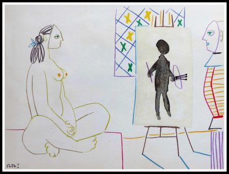 Lithographie Picasso - DESSINS DE VALLAURIS X