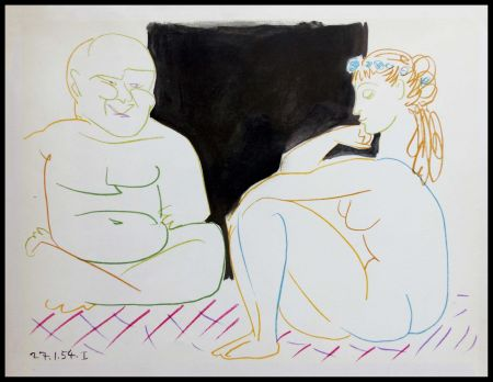 Lithographie Picasso (After) - DESSINS DE VALLAURIS XI