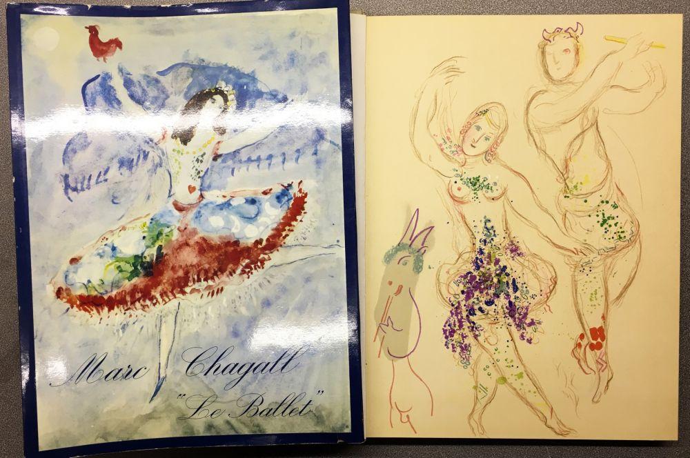 Lithographie Chagall - DESSINS ET AQUARELLES POUR LE BALLET