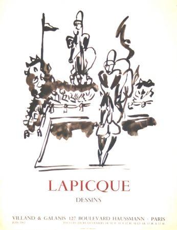 Lithographie Lapicque - Dessins  Exposition Villand Galanis Paris