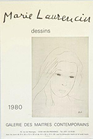Affiche Laurencin - Dessins  Galerie des Maitres Contemporains