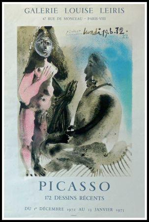 Affiche Picasso - DESSINS PICASSO, GALERIE LOUISE LEIRIS