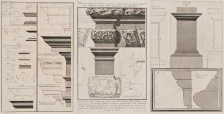 Gravure Piranesi - Detalles arquitectónicos