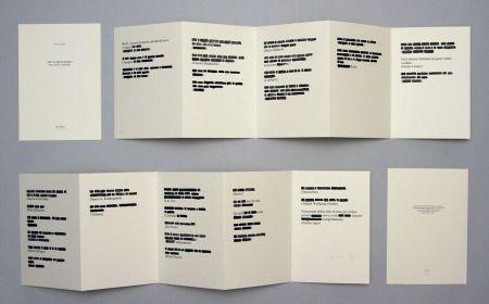 Lithographie Isgro - Detti memorabili da Gesù a Isgrò