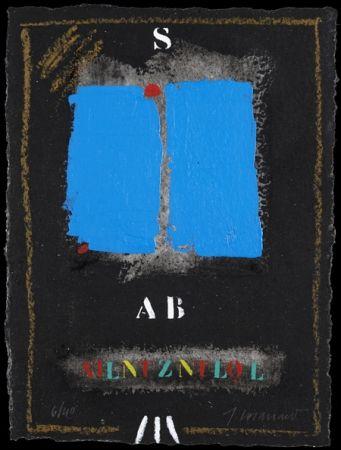Carborundum Coignard - Deux bleus sur noir