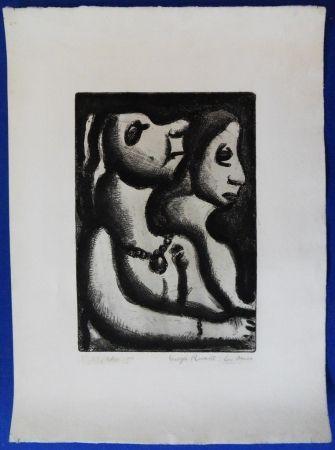Gravure Rouault - Deux femmes