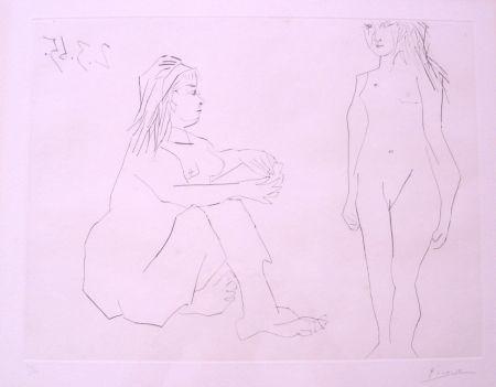 Eau-Forte Picasso - Deux Femmes