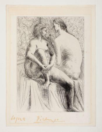 Eau-Forte Picasso - Deux Femmes Nues