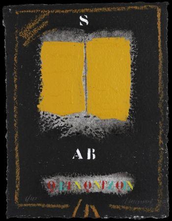 Carborundum Coignard - Deux ocres-jaune sur noir