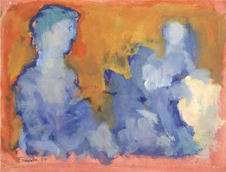 Aucune Technique Mualla - Deux personnages bleus sur fond orange