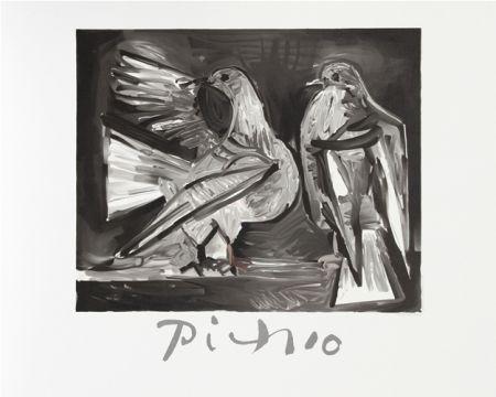 Lithographie Picasso - Deux Pigeons