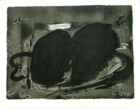 Lithographie Tapies - Deux Utrous