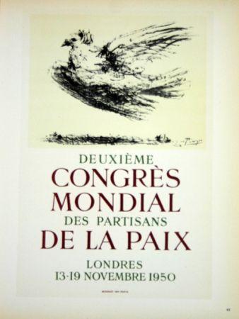 Lithographie Picasso - Deuxieme Congrés de la Paix 1950
