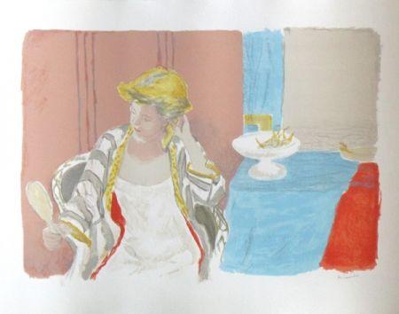 Lithographie Brianchon - Devant le miroir