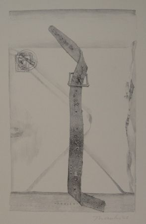 "Lithographie Thomkins - ""devise"""