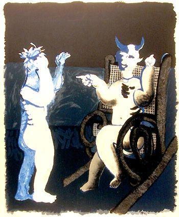 Lithographie Ripolles - Diablo