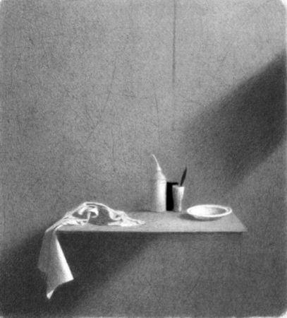 Lithographie Ferroni - Diagonale d'ombra