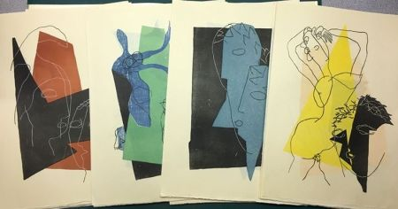 Gravure Sur Bois Laurens - DIALOGUES: SUITE DES 32 GRAVURES ORIGINALES SUR BOIS EN COULEURS (1951).