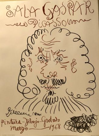 Affiche Picasso -  Dibujos De Picasso - Sala Gaspar Avril 1961
