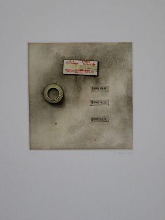 Eau-Forte Et Aquatinte Rösel - Die Fahrkarte wurde angerissen