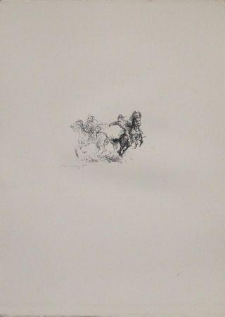 Lithographie Slevogt - Die feindlichen Brüder