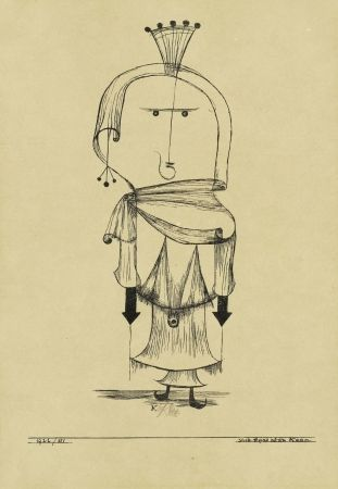 Lithographie Klee - Die Hexe mit dem Kamm / The Witch with the Comb