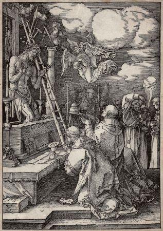 Gravure Sur Bois Durer - Die Messe des heiligen Gregor (The mass of St. Gregory)