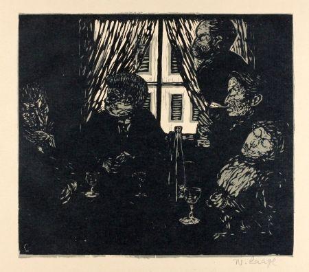 Gravure Sur Bois Laage - Die Stumpfsinnigen (The Dull Ones)