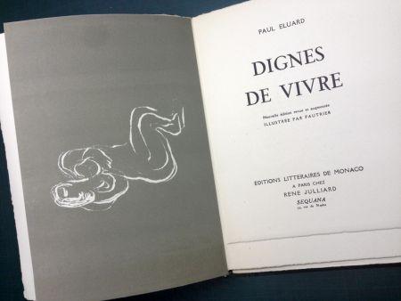 Livre Illustré Fautrier - DIGNES DE VIVRE. Lithographies de Fautrier. 1944
