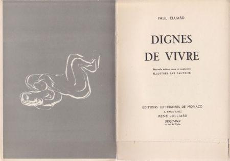 Livre Illustré Fautrier - Dignes de vivre / Paul Eluard