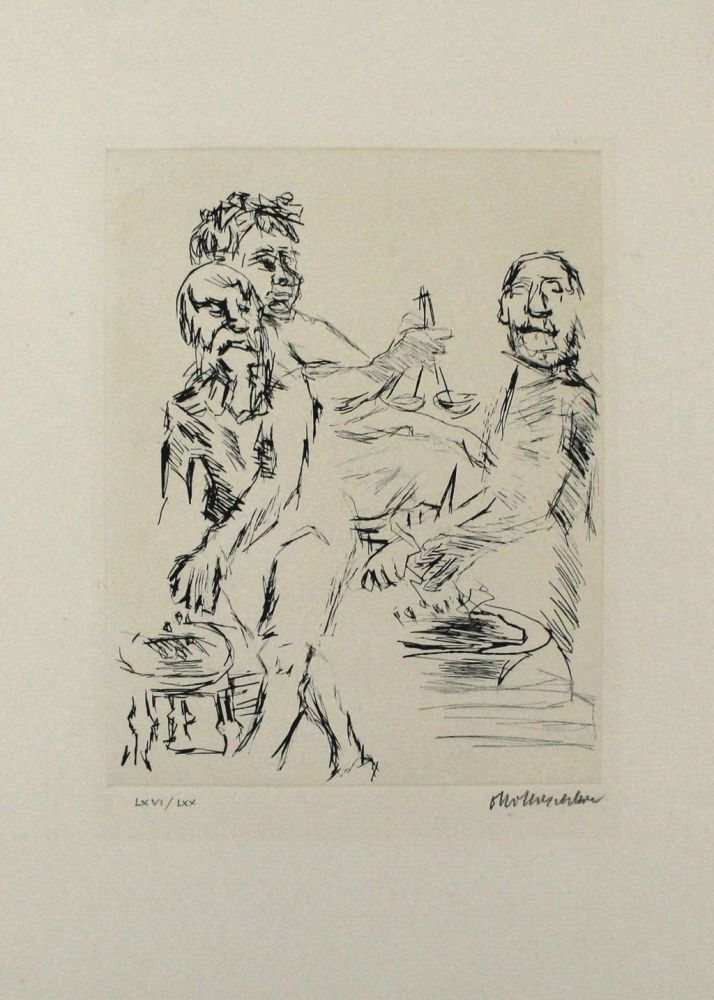 Pointe-Sèche Kokoschka - Dionysos, Aischylos Und Euripides Opfern Vor Dem Wettkampf