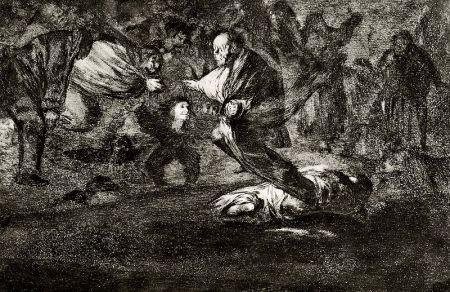 Eau-Forte Et Aquatinte Goya - Disparate fùnebre