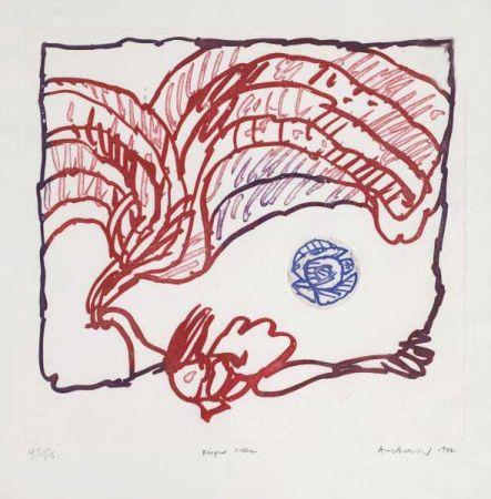 Gravure Alechinsky - Disque bleu