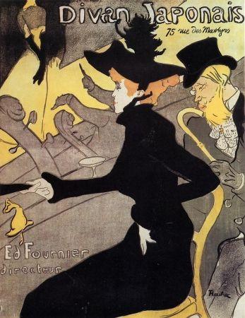 Lithographie Toulouse-Lautrec - Divan japonais