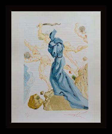 Gravure Sur Bois Dali - Divine Comedy Hell Canto 19