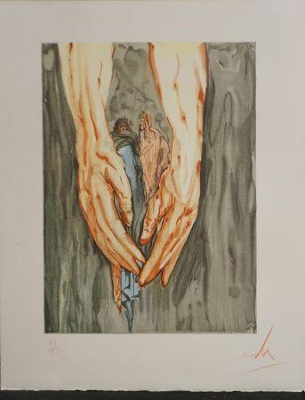 Gravure Sur Bois Dali - Divine Comedy Hell Canto 31