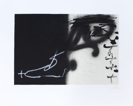 Lithographie Tapies - Divise