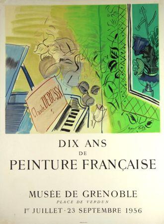 Lithographie Dufy - Dix Ans de Peinture Française  Musée de Granoble