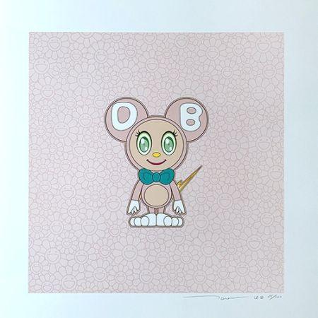 Lithographie Murakami - DOB 2020 Light Pink