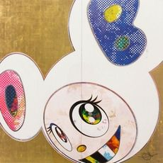 Offset Murakami - DOB In Pure White Robe (Pink and Blue)