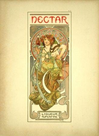 Lithographie Mucha - Document Décoratif  Planche n°14