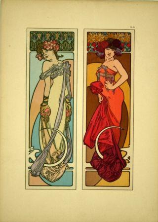 Lithographie Mucha - Document décoratif  Planche n° 45
