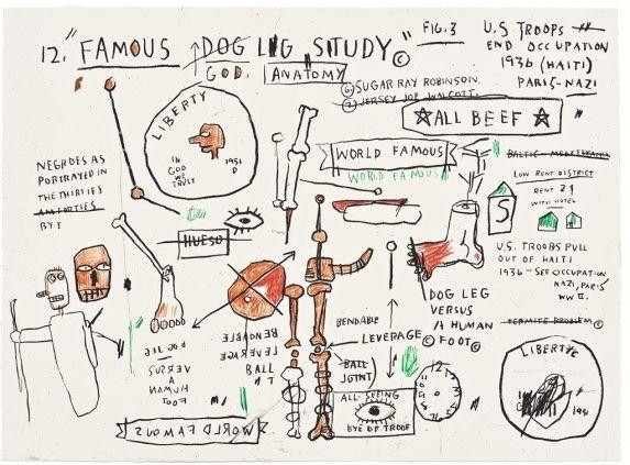 Sérigraphie Basquiat - Dog Leg Study