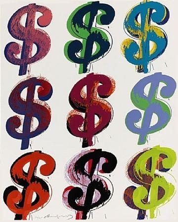 Sérigraphie Warhol - Dollar Sign (9) FS II.286