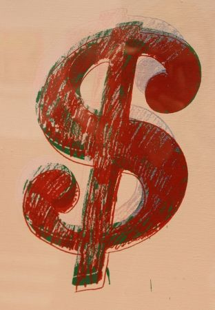 Multiple Warhol - Dollar Sign by Andy Warhol