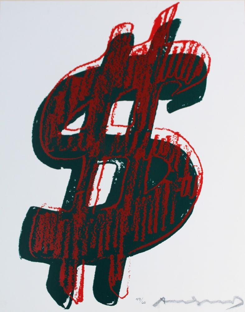 Sérigraphie Warhol - Dollar Sign (FS II.278)