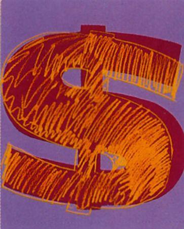 Sérigraphie Warhol -  Dollar Sign (FS II.280)