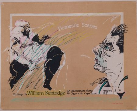 Sérigraphie Kentridge - Domestic Scenes