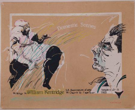 Sérigraphie Kentridge - Domestic Scenes